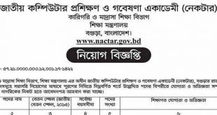 National Computer Training and Research Academy NACTAR Jobs 2019